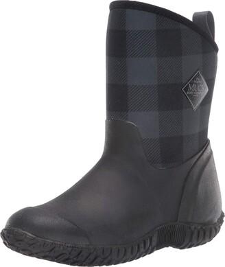 Muck Boot Muck Women's Muckster II Mid Cozy Fleece Lining Black/Grey Plaid