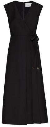 Valentino V-Neck Midi Dress
