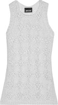 Just Cavalli Open-knit cotton tank