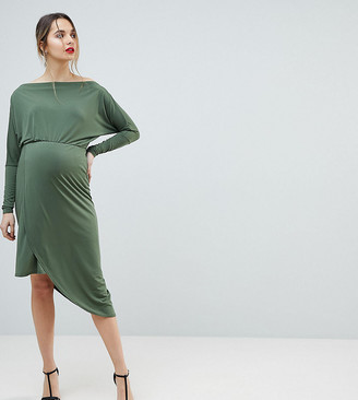 Queen Bee Off Shoulder Wrap Front Bodycon Dress