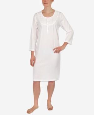 Miss Elaine Dot-Print Knit Nightgown