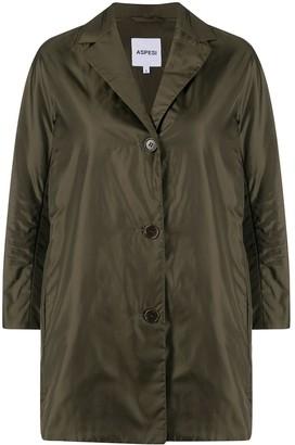 Aspesi Single-Breasted Cropped-Sleeves Jacket