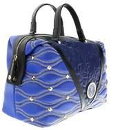 Versace Ee1vobbk3 Emaf Blue Satchel.