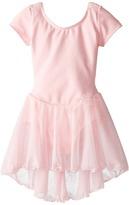 Capezio Short Sleeve Nylon Dress (Toddler/Little Kids/Big Kids)