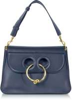 J.W.Anderson Navy Leather Medium Pierce Bag