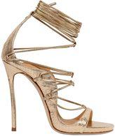 DSQUARED2 120mm Elaphe Snakeskin Lace-Up Sandals