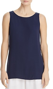 Eileen Fisher System High/Low Silk Tunic Tank