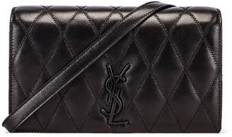 Saint Laurent Angie Monogramme Chain Bag in Black   FWRD