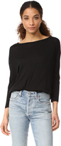 Enza Costa Drop Shoulder Open Neck Tee