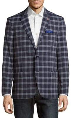 Ben Sherman Windowpane Plaid Jacket
