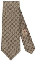 Gucci GG pattern tie with Web detail