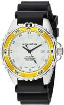 Momentum Women's Quartz Stainless Steel and Rubber Diving Watch, Color:Black (Model: 1M-DN11LY1B)