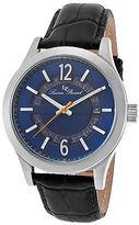 Lucien Piccard 40020-03 Men's Oxford Black Genuine Leather Blue Dial