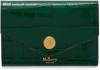 Mulberry Folded Multi-Card Wallet Jungle Green Croc Print