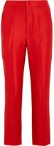 Isabel Marant Roan Matte-satin Pants - Red