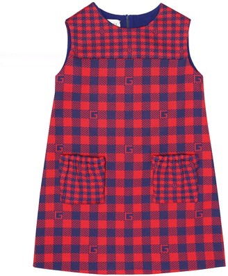 Gucci Kids Checked cotton dress