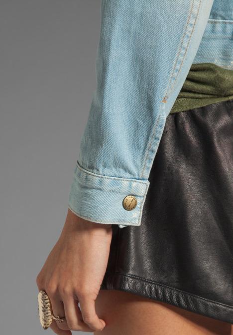 Current/Elliott The Snap Jacket in Parlor Destroyed