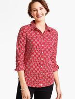 Talbots The Perfect Long-Sleeve Shirt-Filigree Snowflakes