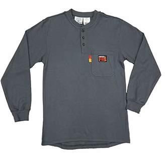 Comeaux FR Henley Welding Work Shirt Long Sleeve T-Shirt Mens (