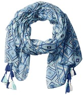 San Diego Hat Company BSS1650 Lightweight Scarf with All Over Print and Tassels
