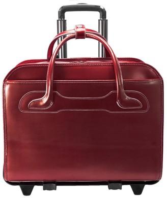 42 cm Briefcase Black McKlein Irving Park 15.6 Leather Double Compartment Laptop Case