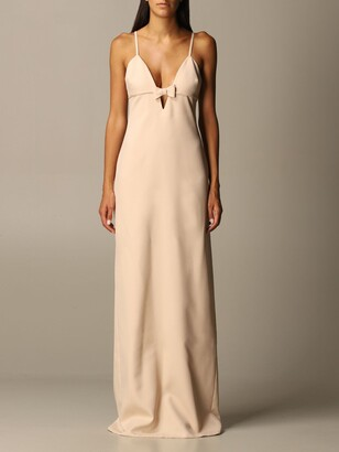 Miu Miu Long Dress With Bow