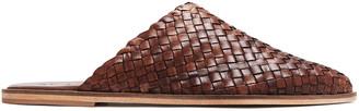 ST. AGNI Caio Woven Leather Flats