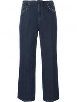 Sonia Rykiel wide leg cropped jeans
