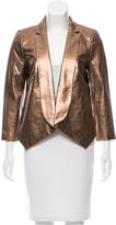 Rebecca Minkoff Metallic Leather Blazer