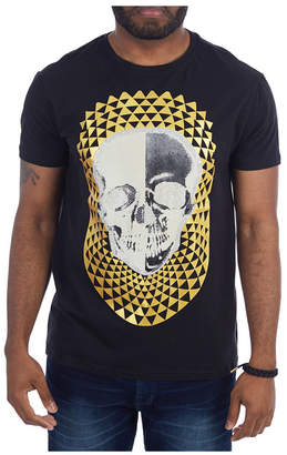 Heads or Tails 3D Graphic Split Skull T-Shirt