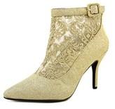 J. Renee Haldana Women Pointed Toe Canvas Gold Ankle Boot.