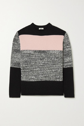 Jason Wu Color-block Wool-blend Sweater - Gray