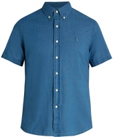 Polo Ralph Lauren Logo-embroidered short-sleeved chambray shirt