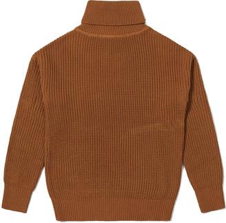 Wemoto Mocha Finja Fishermen Knitwear - S