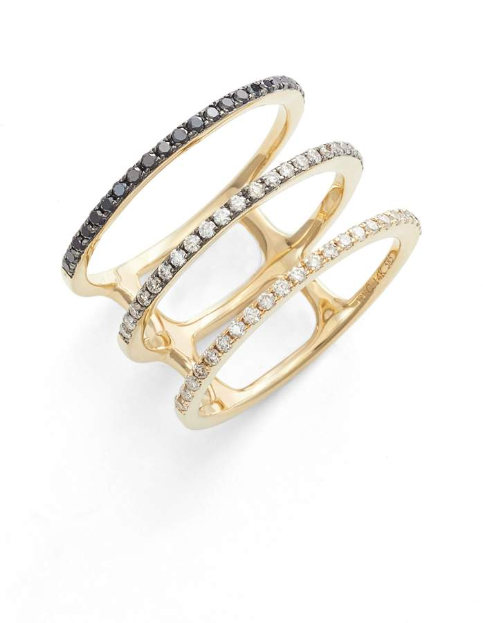 Ef Collection Diamond Triple Fade Stacking Ring