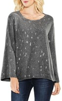 Women's Two By Vince Camuto Bell Sleeve Foil Print Sweater