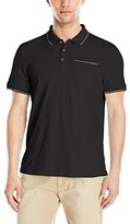 Calvin Klein Men's Liquid Cotton Short Sleeve Solid Slub Polo