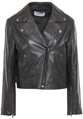 Muu Baa Muubaa Cropped Leather Biker Jacket