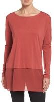 Eileen Fisher Petite Women's Boxy Stretch Silk Jersey Tunic