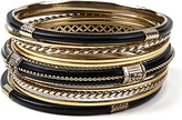 Amrita Singh Black & Goldtone Adriana Bangle Set