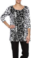Comfy USA Black And White Tunic