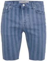 Topman Blue Laser Stripe Stretch Skinny Shorts