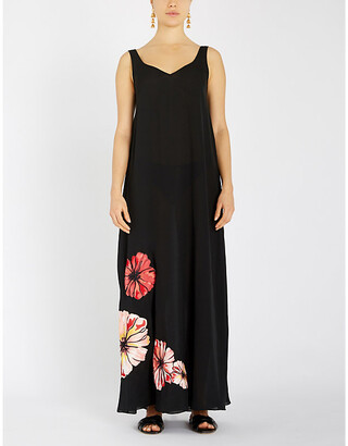 Myla Fitzrovia crepe maxi dress