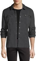John Varvatos Denim Knit Shirt Jacket