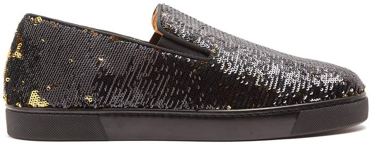Christian Louboutin Boat sequin-embellished slip-on trainers