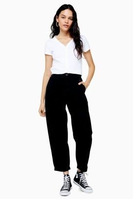 Topshop Womens Black Casual Peg Trousers - Black