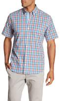 Tailorbyrd Regular Fit Short Sleeve Casual Plaid Shirt