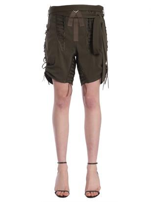 Saint Laurent Laced Military Shorts