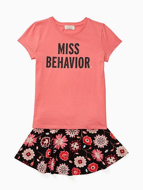 Kate Spade Toddlers miss behavior tee