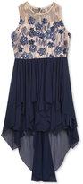 Rare Editions Embroidered Bodice Hi-Lo Dress, Big Girls (7-16)
